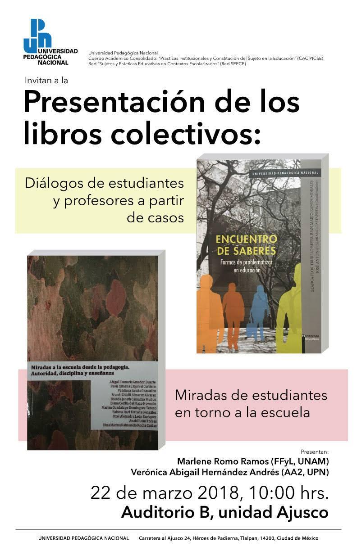 presentación de libros colectivos