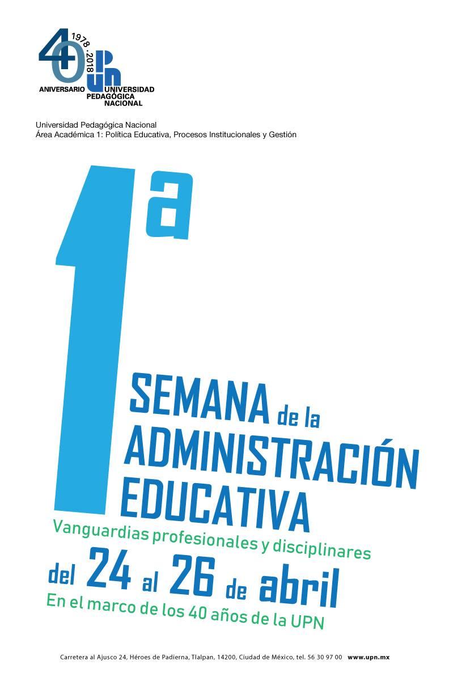 Primera semana de la Administración Educativa